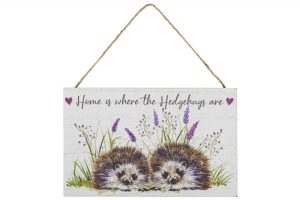 'Home is Where the Hedgehugs Are' Hedgehog Hanging Plaque - Langs