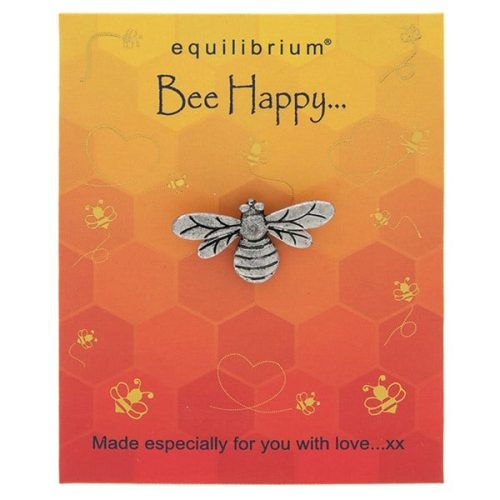 Natural World Bee Happy Pin - Equilibrium