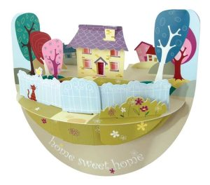 Santoro Home Sweet Home Popnrock 3D Pop-Up Card - Greetings and Birthday Card