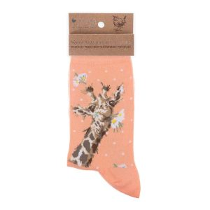 'Flowers' Giraffe Socks - Wrendale Designs