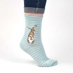 'Hare and the Bee' Hare Socks - Wrendale Designs