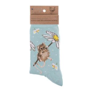 'Oops a Daisy' Mouse Socks - Wrendale Designs