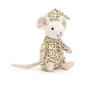 Jellycat Merry Mouse Bedtime - 18 x 9 cm