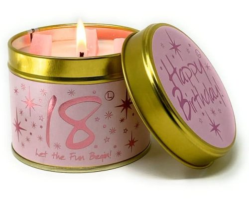 Lily-Flame Happy Birthday 18th Scented Candle Tin