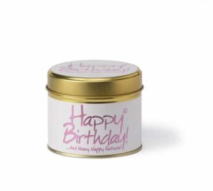 Lily-Flame Happy Birthday Scented Candle Tin