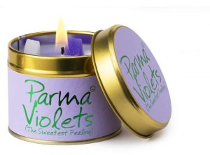 Lily-Flame Parma Violets Scented Candle Tin