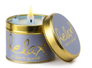 Lily-Flame Relax Scented Candle Tin