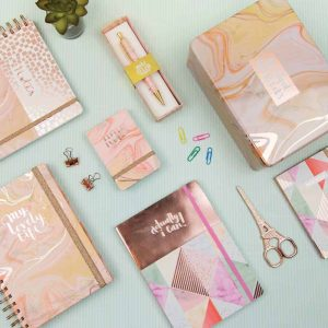 'Beautiful Bits and Bobs' Pink Marble Hinged Tin - Rachel Ellen Designs