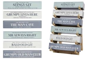 'Proven and Certified to be MR ALWAYS RIGHT' Standing Block Sign - Langs