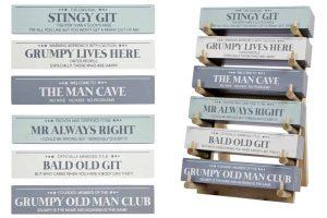 'Grumpy Old Man Club' Standing Block Sign - Langs