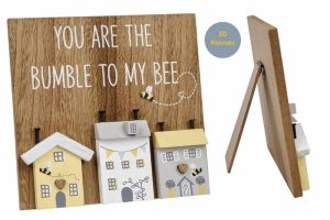 'You Are the Bumble to My Bee' 3D House Easel Plaque - Langs